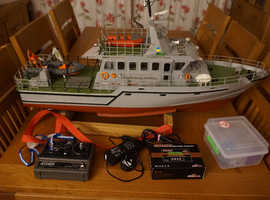 "Radio Control Boat 37"" model of the Drumbeat od Devon Fisheries Protection Boat"
