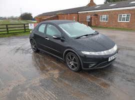 Honda Civic, 2007 (56) Black Hatchback, Manual Petrol, 102,126 miles
