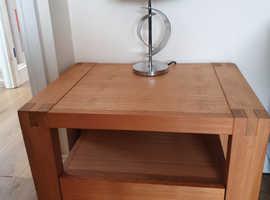 Solid oak coffee table x2
