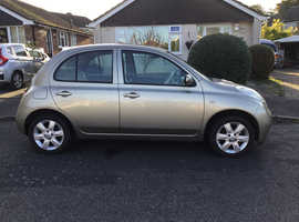 Nissan Micra, 2004 in Gold - only 49,000 miles