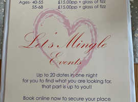 Speed Dating Event for the over 40-55 and 55-68