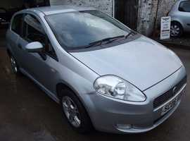 Fiat Grande Punto, 2006 (06) Grey Hatchback, Manual Petrol, 121,000 miles