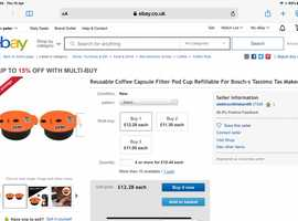 Wanted, Tassimo refillable coffee pods