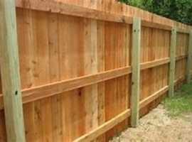 Fences installed.