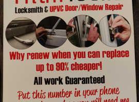 Locksmith and uPVC doors and window services