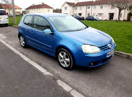Volkswagen Golf, 2005 (05) Blue Hatchback, Manual Petrol, 105,000 miles