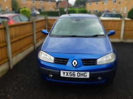 Renault Megane, 2006 (56) Blue Hatchback, Manual Petrol, 112,256 miles