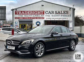 2014/14 Mercedes C220 2.1 CDi BlueTEC Sport G-Tronic + finished in Phantom Black Metallic.   29,064 miles