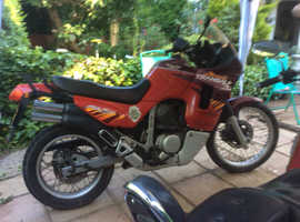 Honda transalp  600 cc big old school trail bike , do anything go anywhere , engine bombproof , never let me down , brilliant on / off road , comfy po
