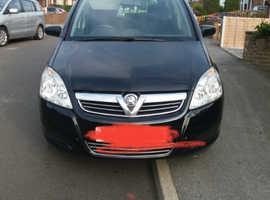 Vauxhall Zafira, 2009 (58) Black MPV, Manual Petrol, 91,000 miles