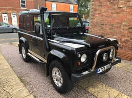 Land Rover DEFENDER 90, 2004 (54) Black 4x4, Manual Diesel, 99,895 miles
