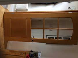 Smart internal half glazed oak door