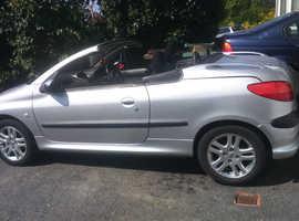 Peugeot 206, 2002 (02) Silver Coupe, Manual Petrol, 82,000 miles