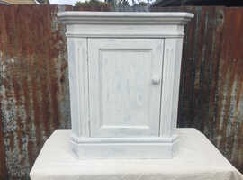 Shabby Chic Newly Painted Pine Corner Cabinet