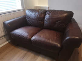 FREETwo seater leather sofa from scs