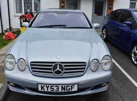 Mercedes CL, 2003 (53) Blue Coupe, Automatic Petrol, 131,000 miles