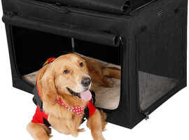 Folding dog crate for dogs up to 20 kg (approx).  Good for travel with pets