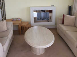 Beautiful Oval Marble Coffee Table