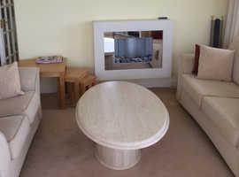 Oval Italian Marble Coffee Table