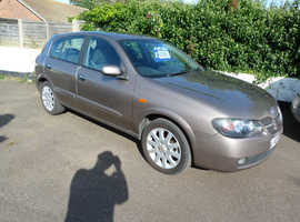 Nissan Almera, 2005 (05) Beige Hatchback, Manual Petrol, 110,000 miles