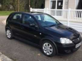 Vauxhall Corsa, 2004 (54) Black Hatchback, Manual Petrol, 70,589 miles