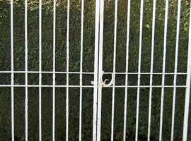 Pair tall garden wrought iron gates