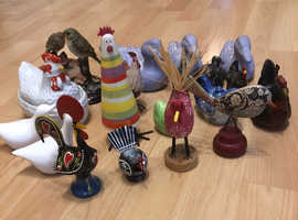 Big selection of bird ornaments 21 in total