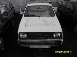 CLASSIC RELIANT RIALTO 2 GLS 1986..WHITE.. SPARE OR REPAIR