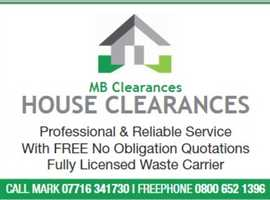 HOUSE CLEARANCE SERVICE - FRIENDLY & PROFESSIONAL