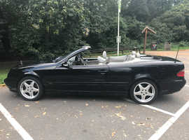 Mercedes Clk, 2001 (51) black convertible, Manual Petrol, 146,500 miles