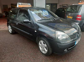 Renault Clio, 2003 (53) Black Hatchback, Manual Petrol, 112,000 miles