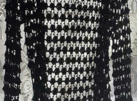 Crochet black beaded jacket