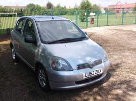 Toyota Yaris, 2002 (52) Silver Hatchback, Automatic Petrol, 68,077 miles