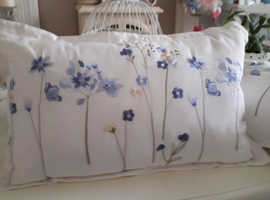 Two gorgeous hand embroided cushions