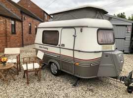 1991 Eriba Puck Classic Mini Caravan, Superb Condition 2 Berth lightweight 600kg