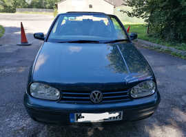 Volkswagen Golf, 2002 (02) Green Convertible, Manual Petrol, 113,529 miles