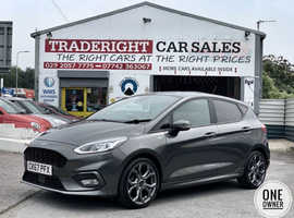 2018/67 Ford Fiesta 1.0 Turbo ST-Line finished in Gun-Metal Grey Metallic.  19,463 miles