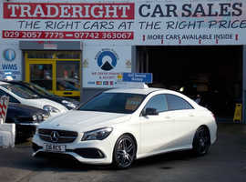 Mercedes CLA, 2016 (66) White Saloon, Manual Diesel, 12,000 miles