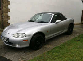 Mazda MX-5, 2002 (52) Silver Convertible, Manual Petrol, 86,000 miles