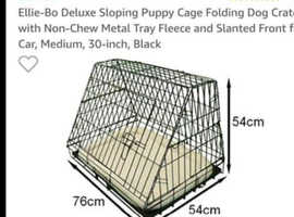 Folding Dog Crate (Cocker Spaniel size)