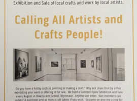 CALLING ALL ARTISTS & CRAFTS PEOPLE