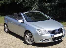 Volkswagen Eos, 2006 (06) Silver Convertible, Manual Diesel, 84,100 miles