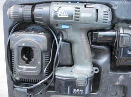 ELU BATTERY 14.4V HAMMER DRILL SBA71 TYPE 3 1-13MM CHUCK CHARGER +2 BATTERIES