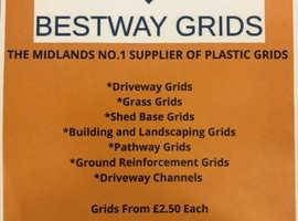 GRIDS - Gravel, Grass, Driveway, Grass, Shedbase, Paving, Landscaping, Ground Reinforcement - Bestway X Grid