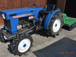Mitsubishi D1300 compact diesel tractor with grass topper