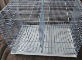 Double breeding bird cage