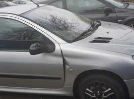Peugeot 206, 2003 (53) Silver Hatchback, Manual Petrol, 126,000 miles