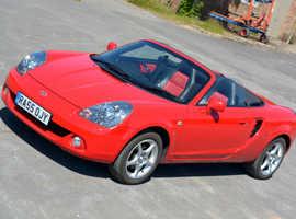Toyota Mr2, 2005 Convertible, six speed, low miles, FSH ... perfect fun in the sun