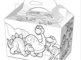 Colour in Party food boxes