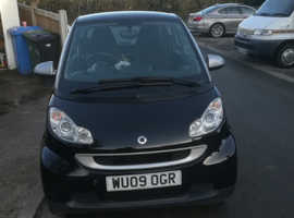 Smart Fortwo Coupe, 2009 (09) Silver Coupe, Automatic Petrol, 40,000 miles